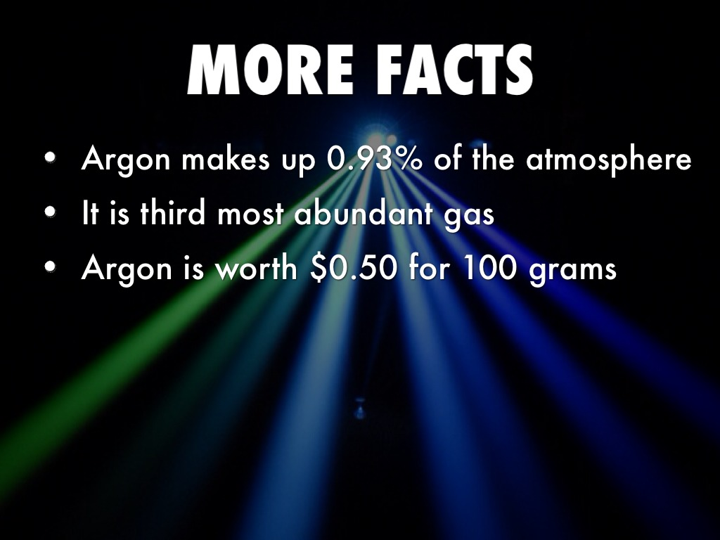 Argon by Anthony Quandt Argon Uses