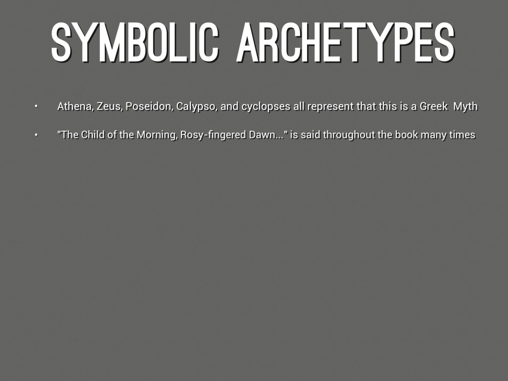 The Odyssey Archetypes By 2000nwh