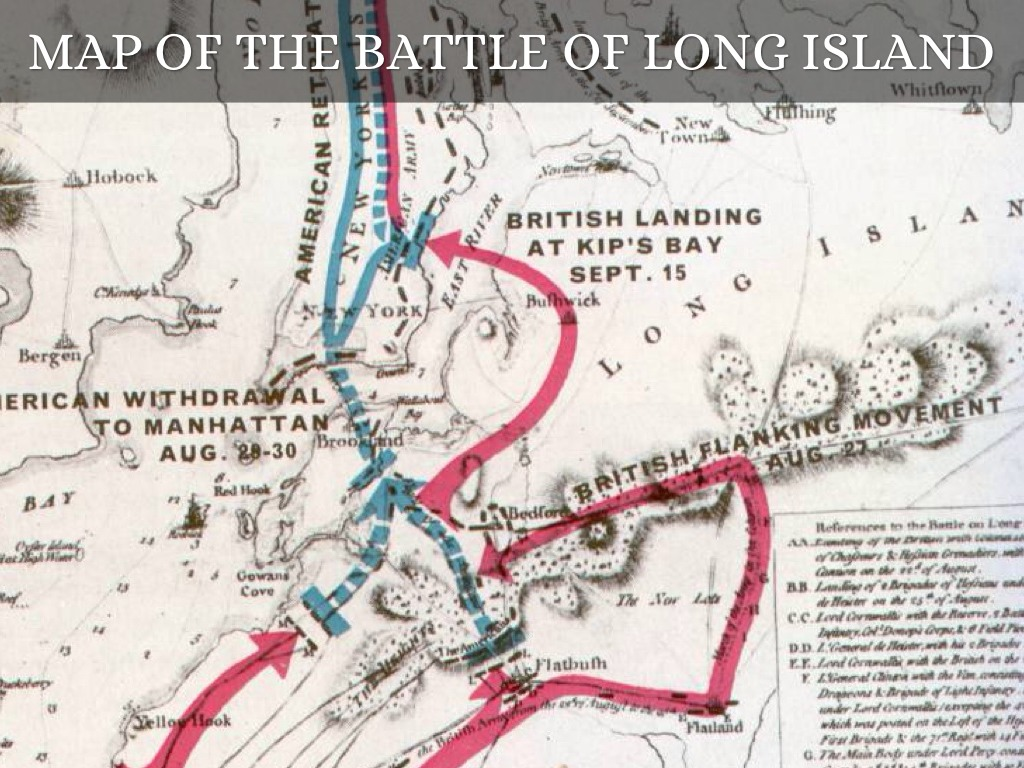 Who Won The Battle Of Long Island - Best Island For Visit 2019 The Battle Of Long Island Between British And American Map on