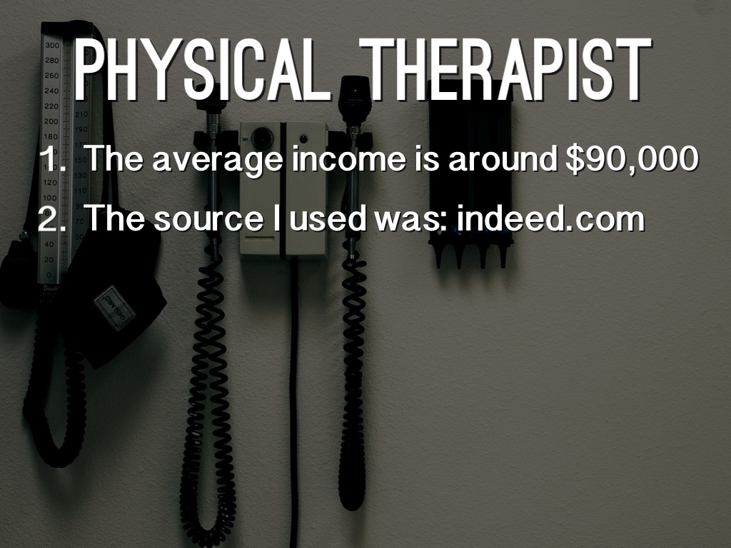 Average income for physical therapy - 3