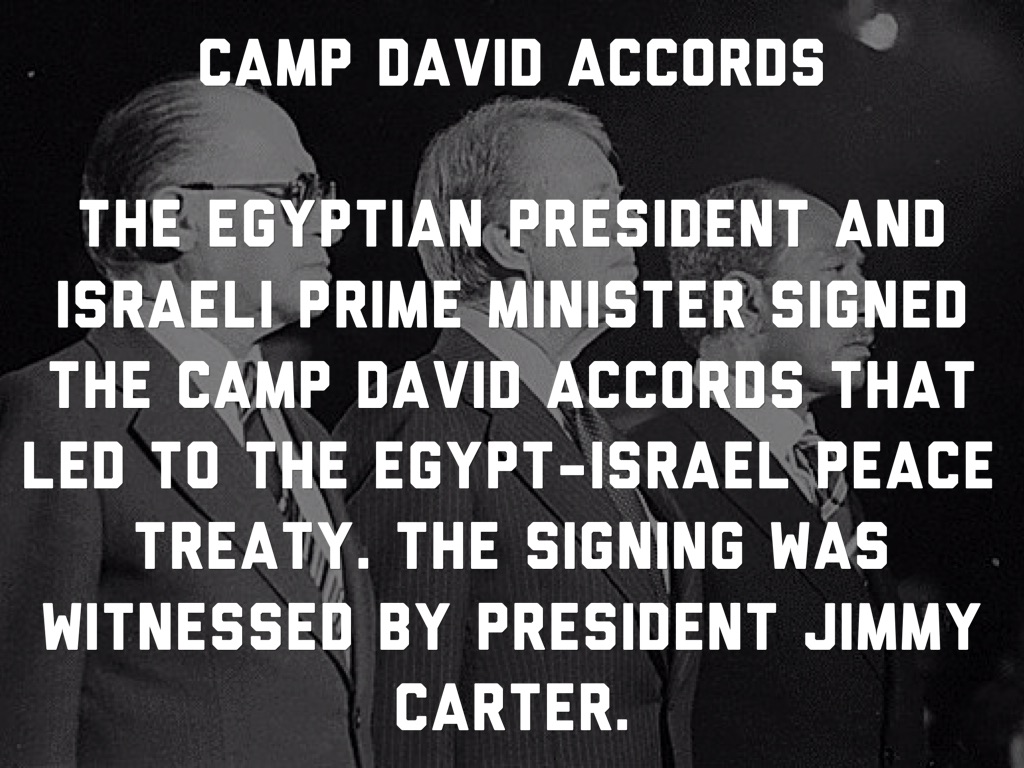 essays camp david accords Camp david accords-formal peace treaty between israel and egypt -israel withdrew its forces fro sinai -sinai handed back to egypt -egypt received major financial aid from us israel recognized legitimate rights of palestinian peoplepromised full autonomy after transitional period vague and open ended.