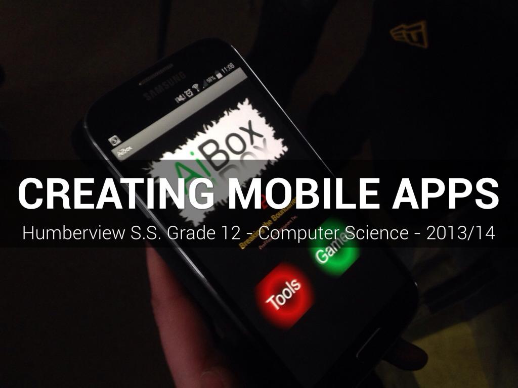 ICS4U - App Inventor Story