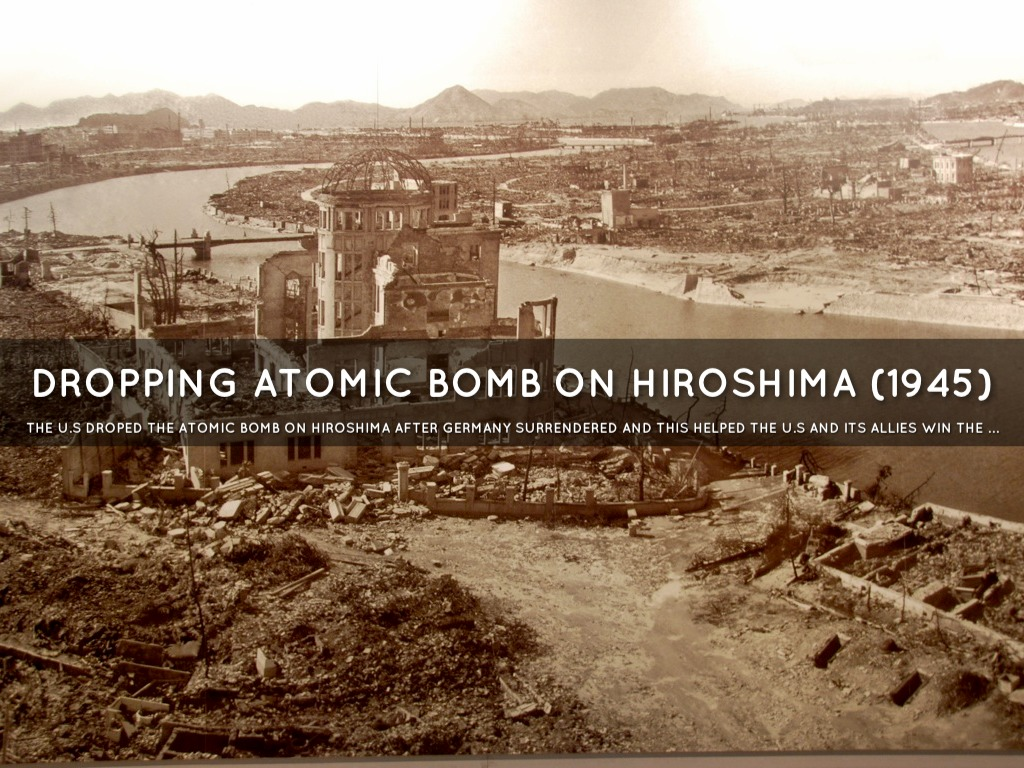 dropping the atomic bomb was it
