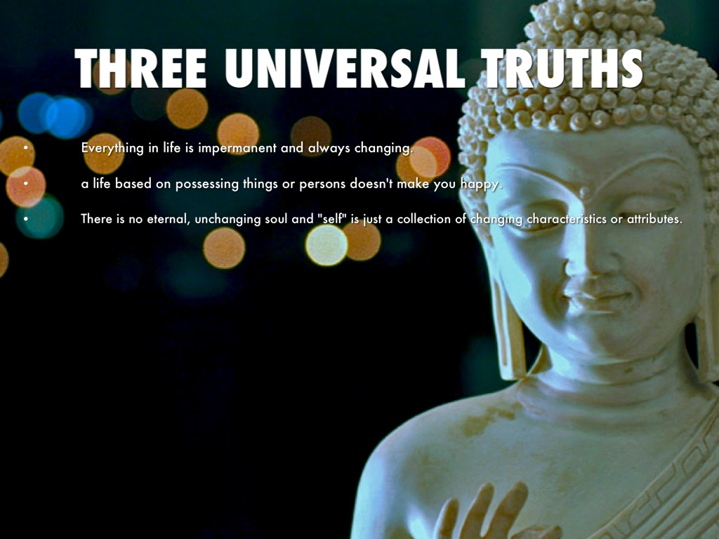 "universal truths ""by means of personal experimentation and observation, we can discover certain simple and universal truths the mind moves the body, and the body follows the mind."