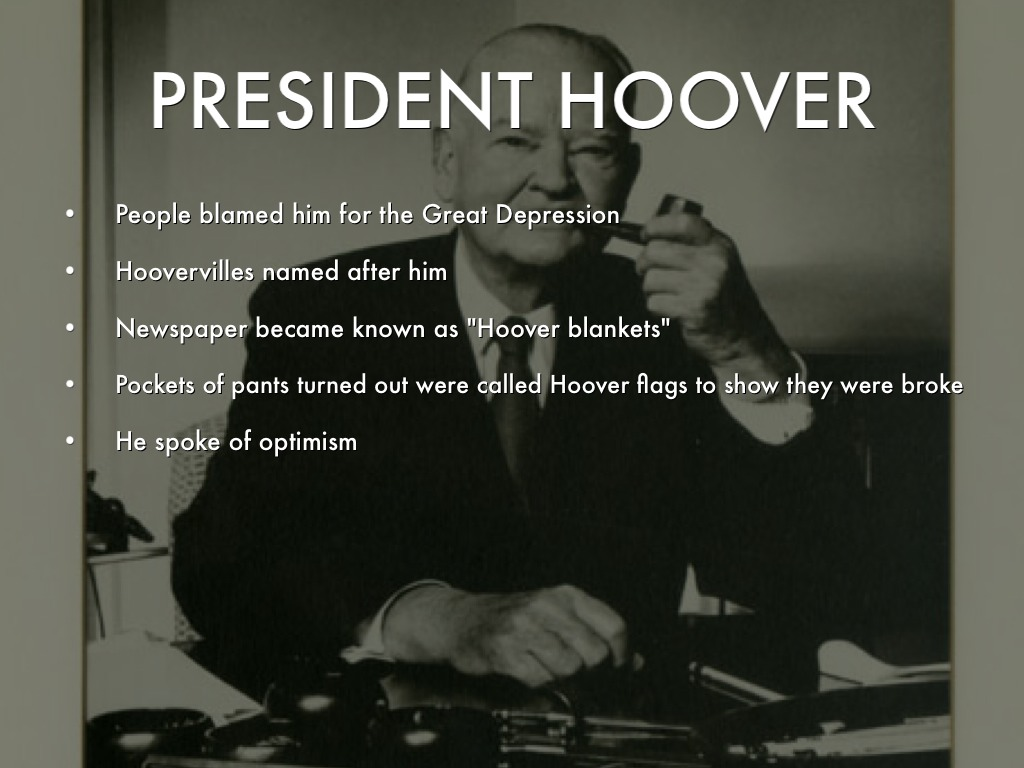 does hoover deserve blame of depression Does anybody else feel like they don't deserve help the reason for my depression is a little i was so ashamed and full of self blame that i did not take.