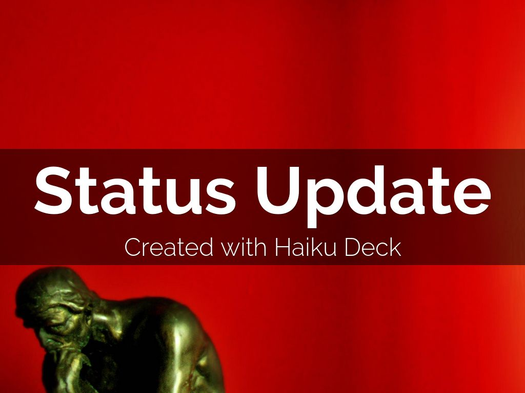 Status Update Haiku Deck Template