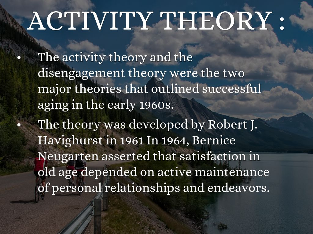 disengagement theory of successful aging