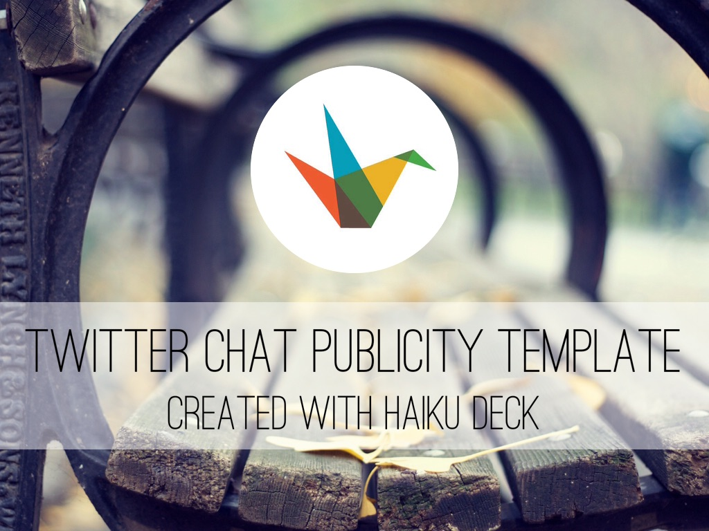 Twitter Chat Publicity Template By Reusable Template