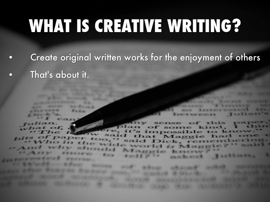 what is creative writing class like Our online writing classes offer the same quality of instruction as our nyc classes, and, as much as possible  creative writing 101 (6-week class).