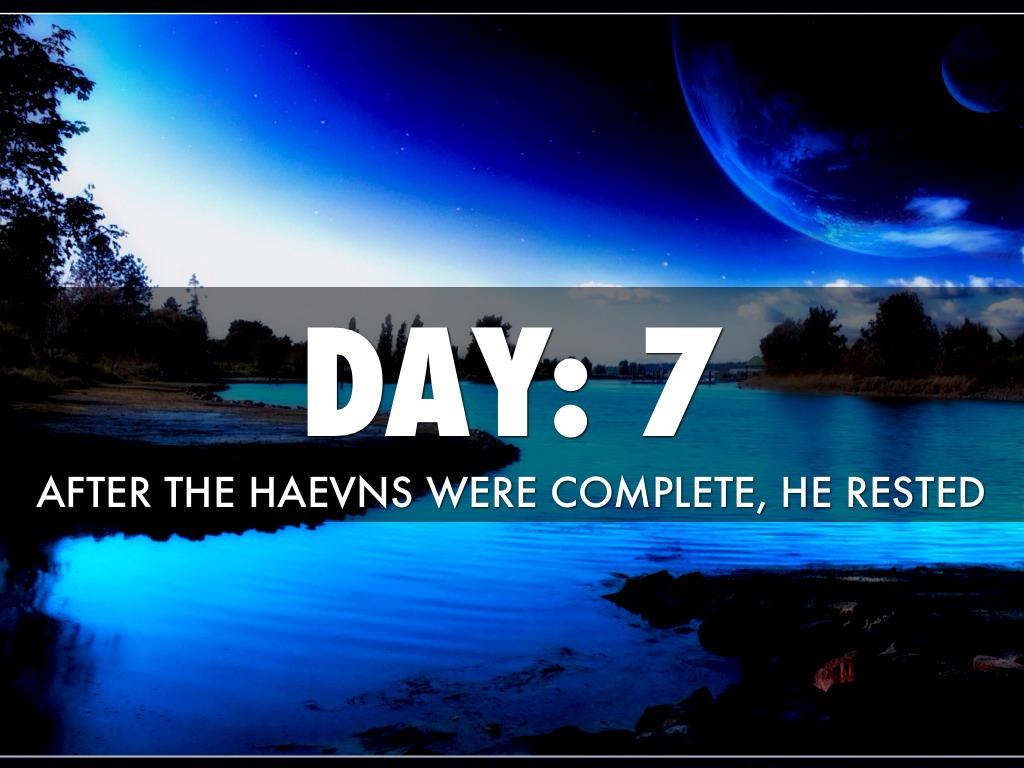 7 days of creation by noah d u0027aunoy