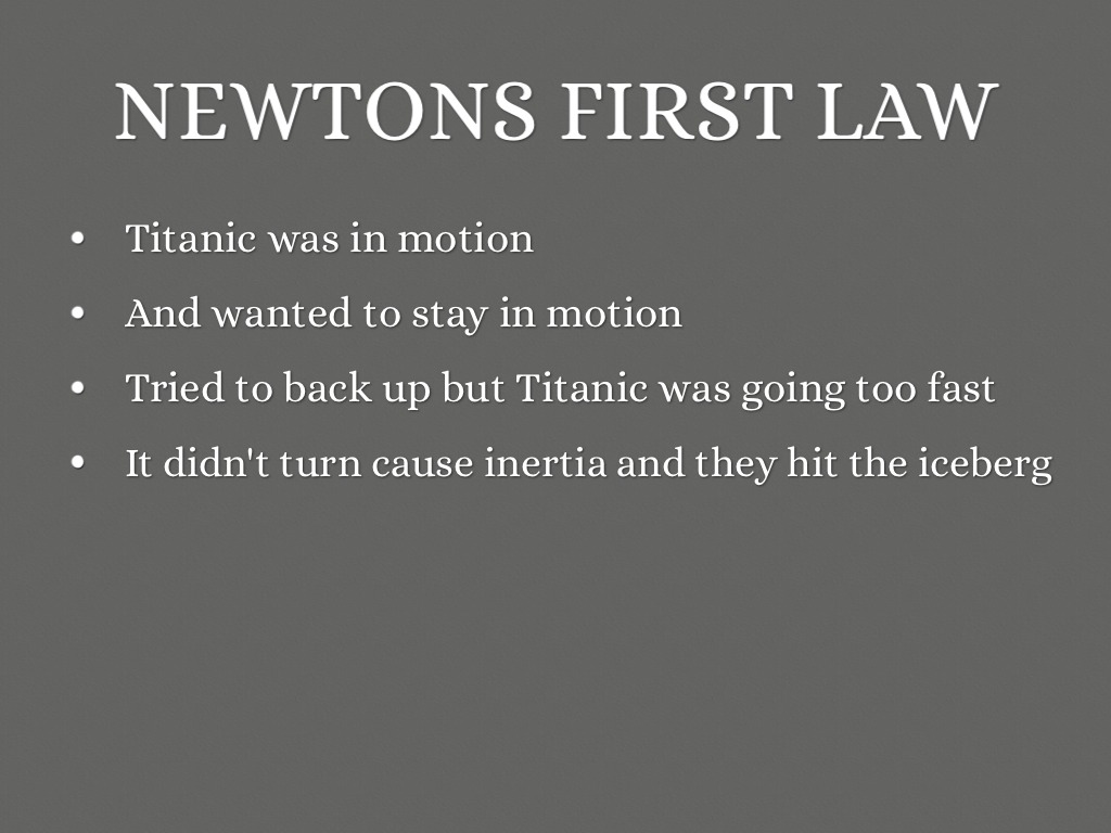 case study newton second law of motion