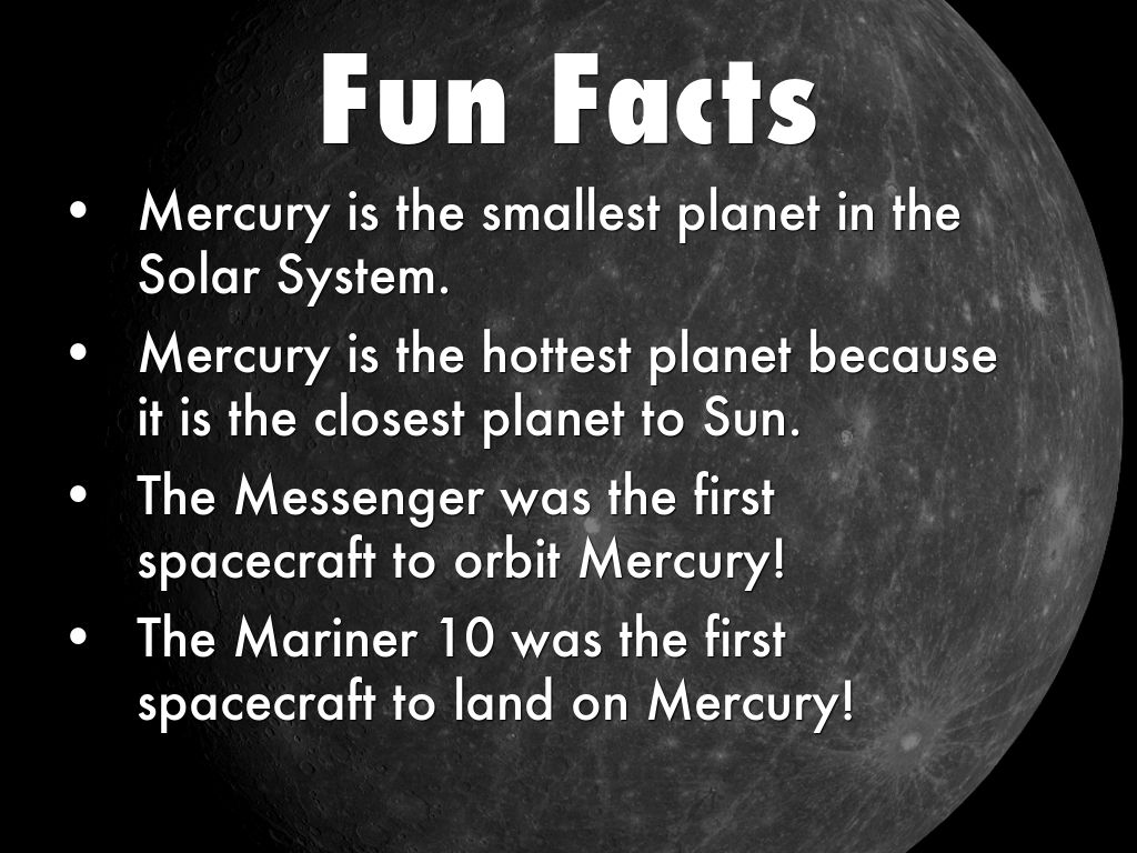 Funny facts about mercury