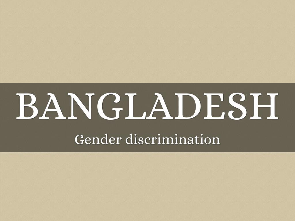 gender discrimination in education pdf
