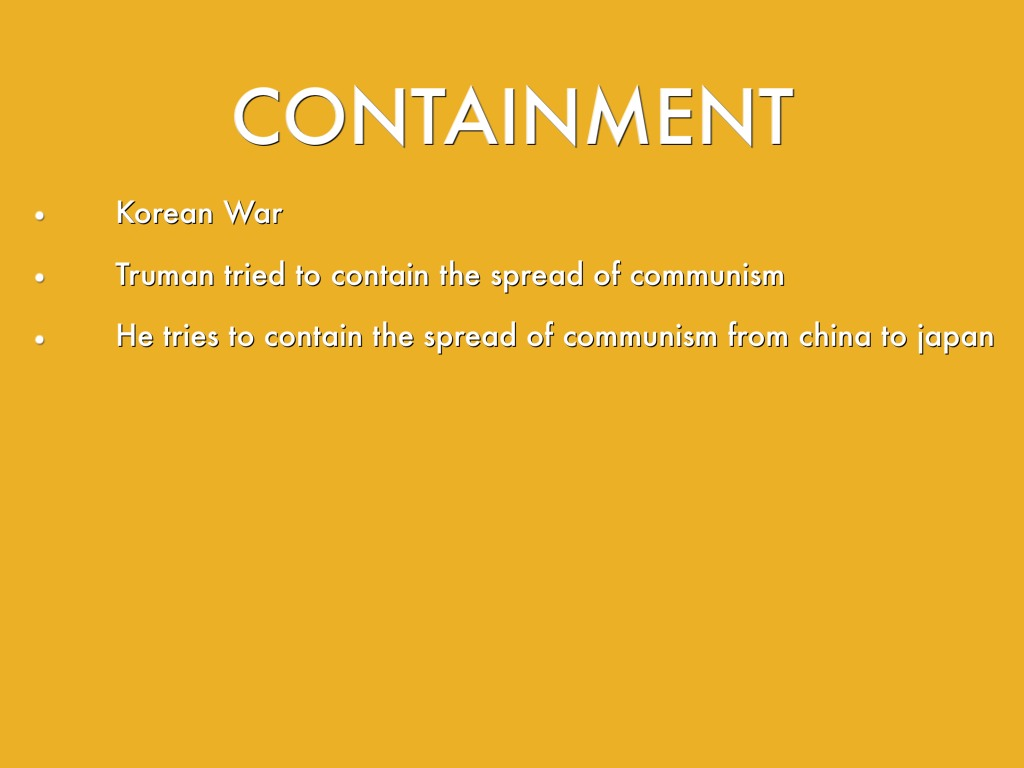a report on the containment of communism