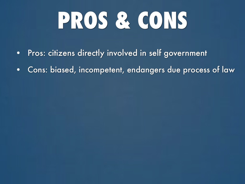 pros and cons of due process