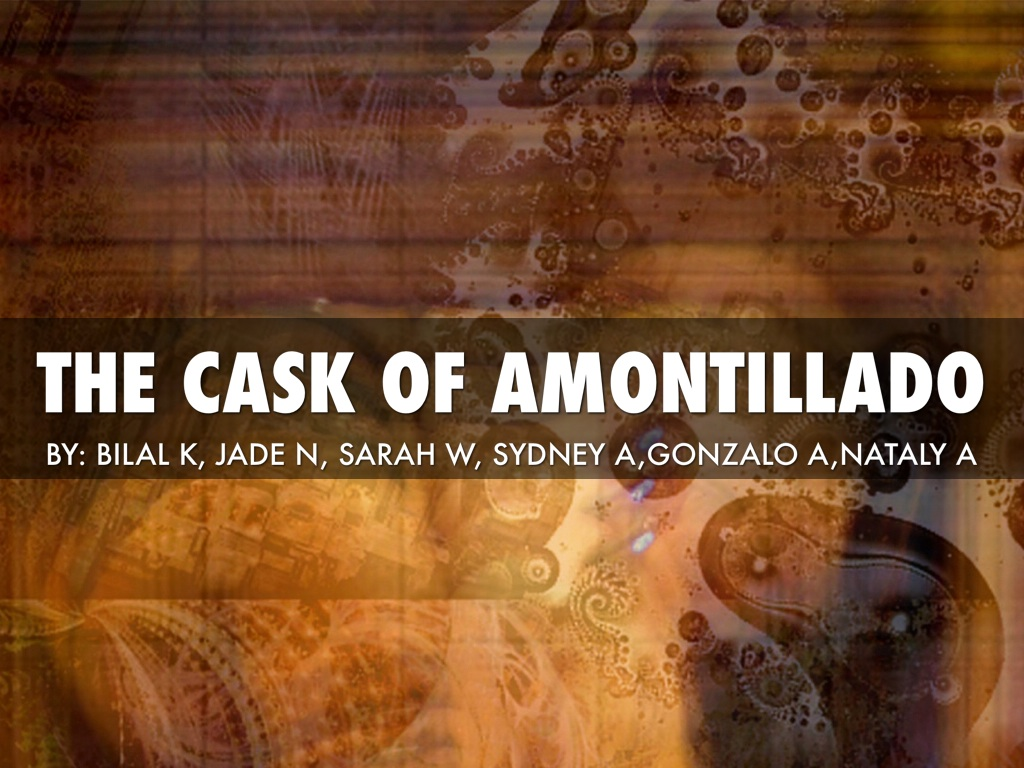 the gothic elements in the cask of amontillado View essay - poe from aml 160 at american college for health careers how does poe use setting as a gothic element in the cask of amontillado and the masque of the red death.