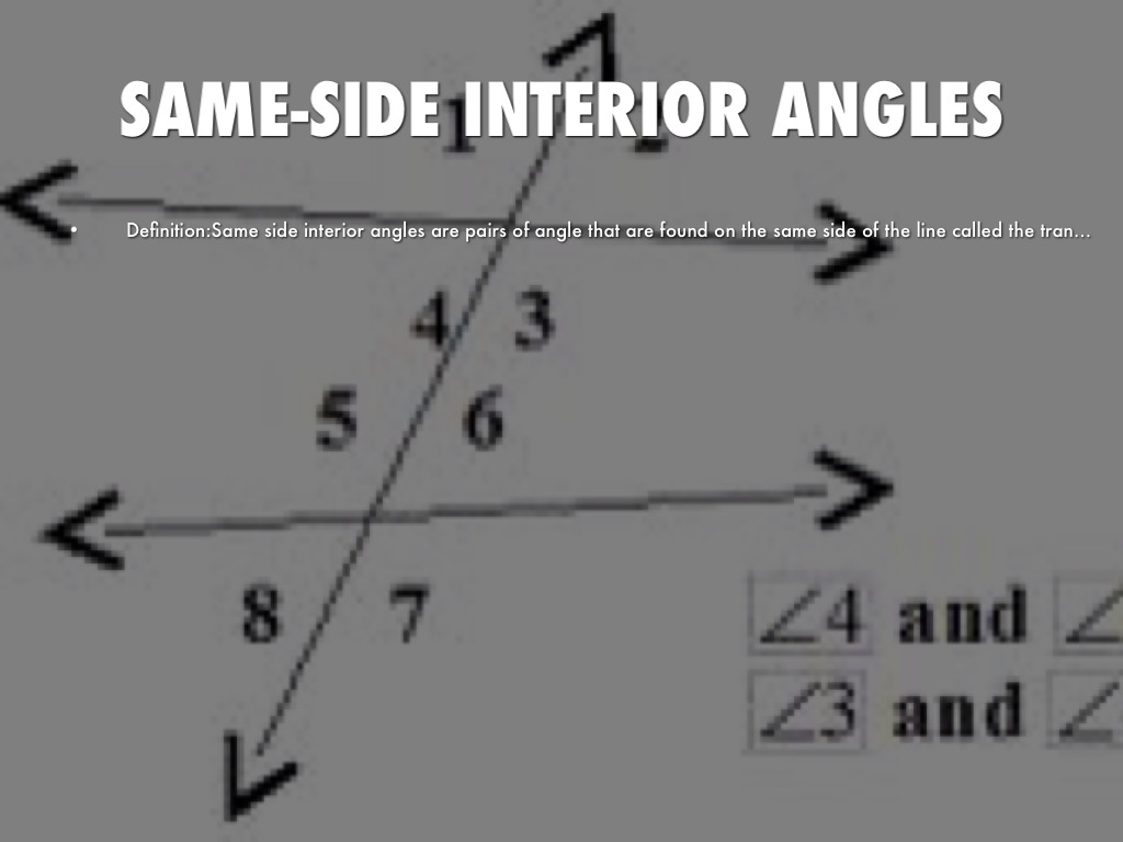 Geometry unit 2 by - Same side exterior angles are congruent ...