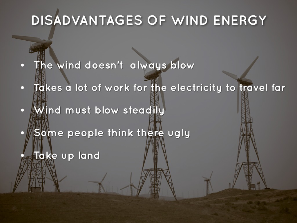 disadvantage of wind energy - Primus Green Energy