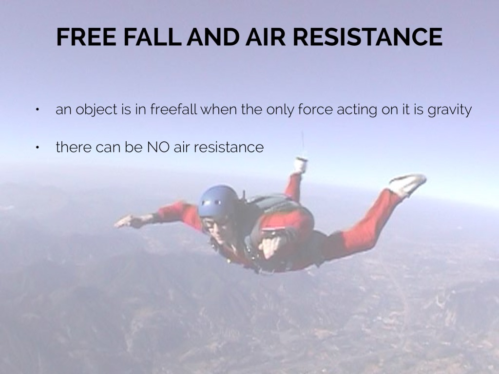 free fall with air resistance