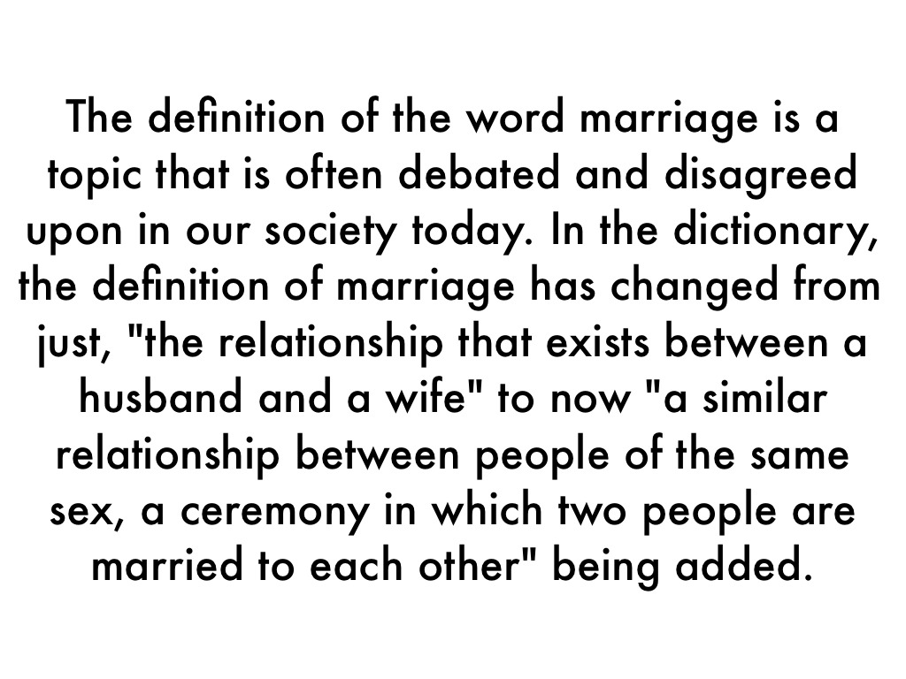Sdefinition of same sex marriage