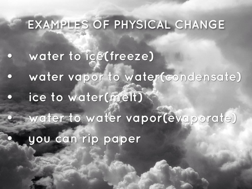 Chemical Vs Physical Change Julia By Matt Herberg
