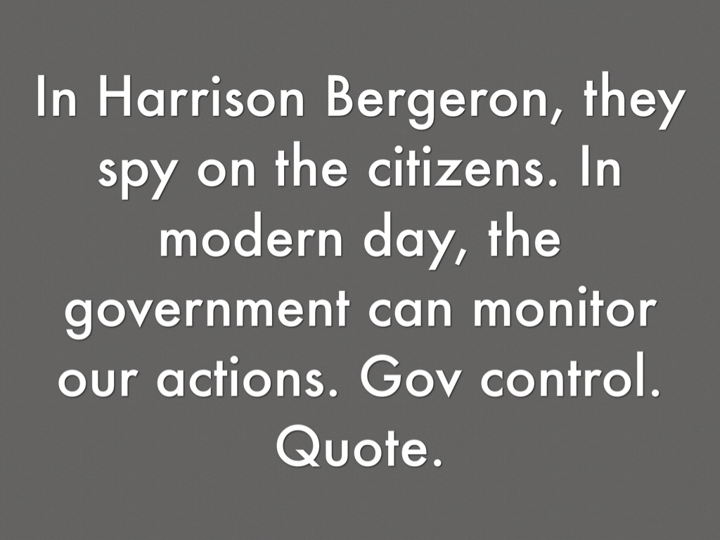 harrison bergeron theme quotes