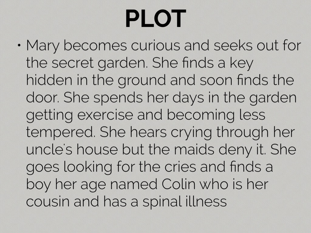 9 - The Secret Garden Summary
