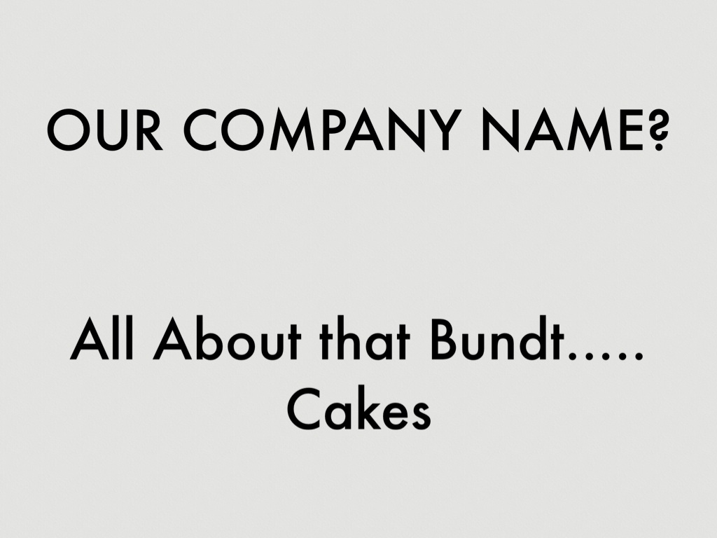 all about that Bundt.... cakes