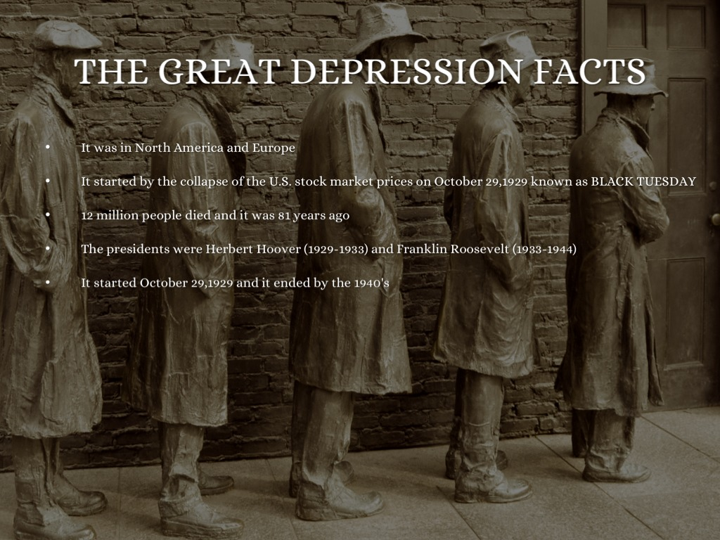 The great depression by natalie may for Good facts about america