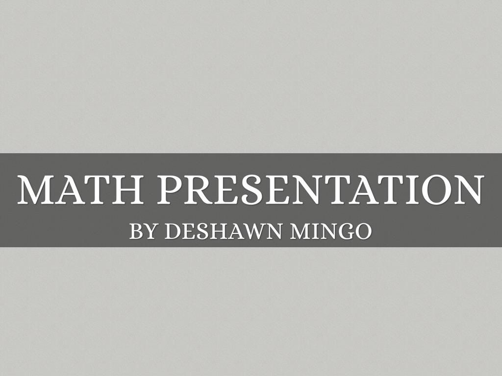 Math Budget Project