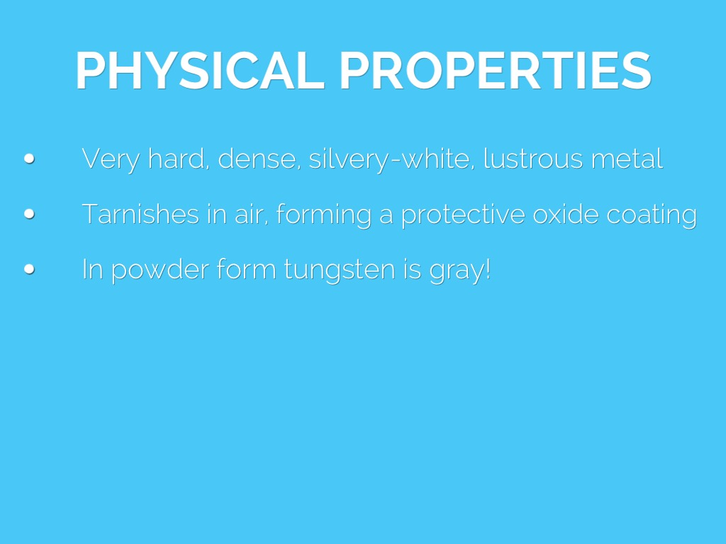 Chemical Properties For
