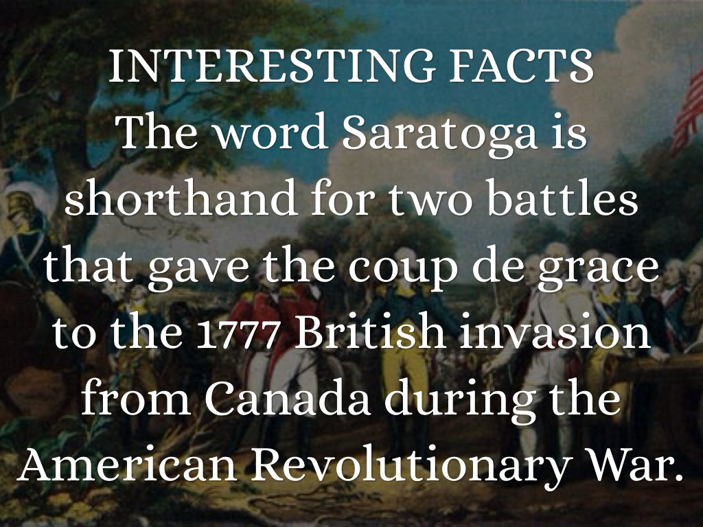 why the battle of saratoga the Battle of saratoga quiz from knilt jump to:  explain why the battle of saratoga is considered to be the turning point of the american revolutionary war 4.