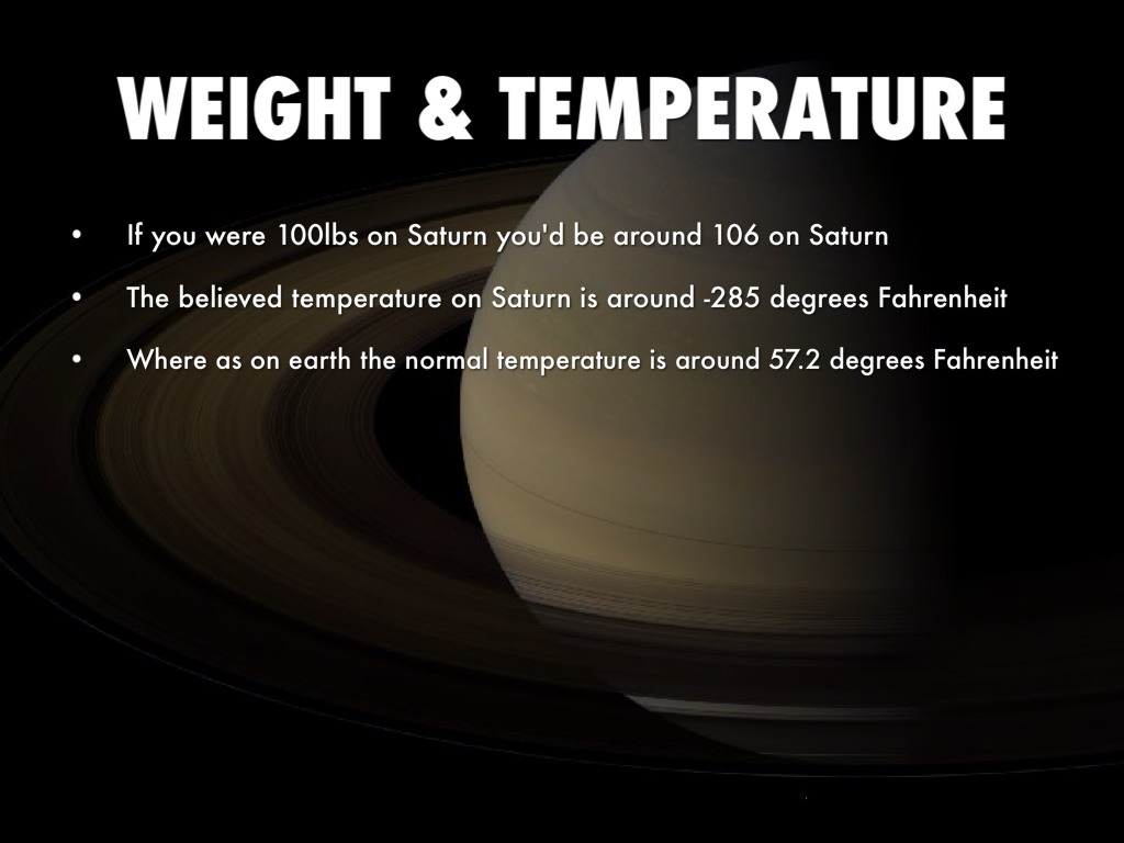 weather on planet saturn - photo #18