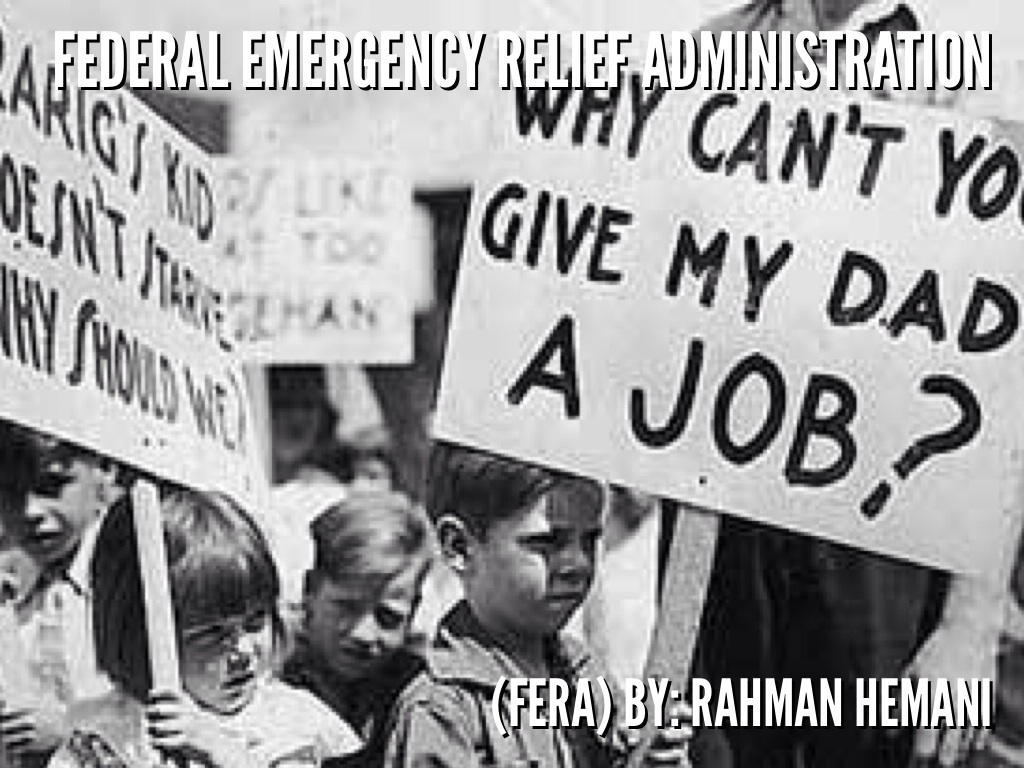 federal emergency relief administration  fera  by