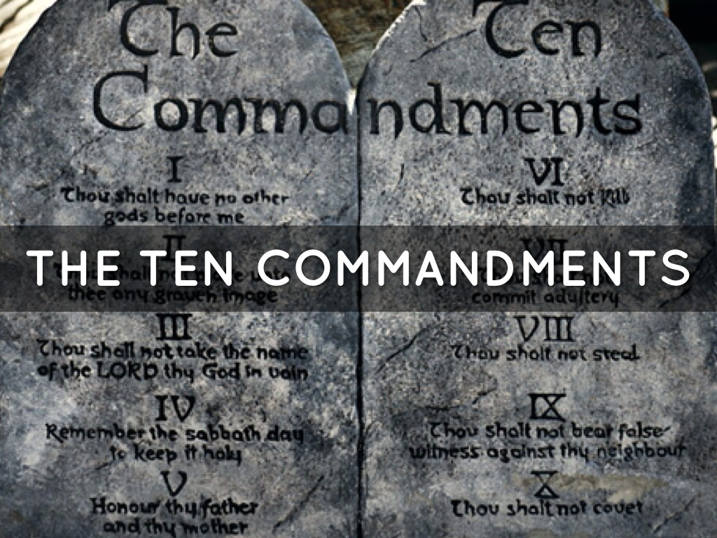 ten commandments Welcome to the ten commandments study this 12 week study will guide your students through the ten commandments, one commandment per week you will also join the moses and israelites in their desert trek as they venture from egypt to.