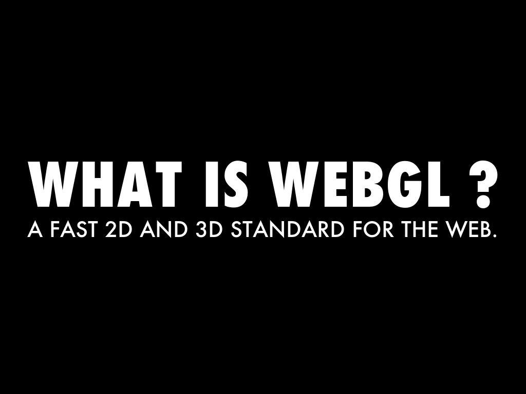 WEBGL AND IZIGOO by Markus Goetz