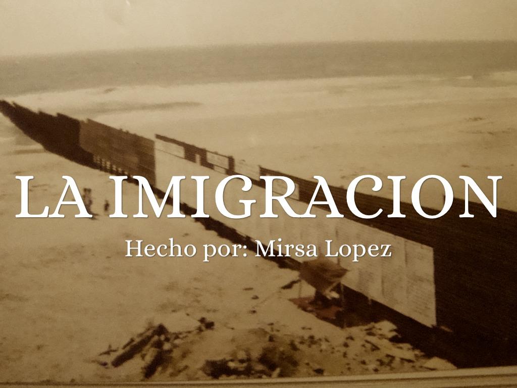 La Imigracion