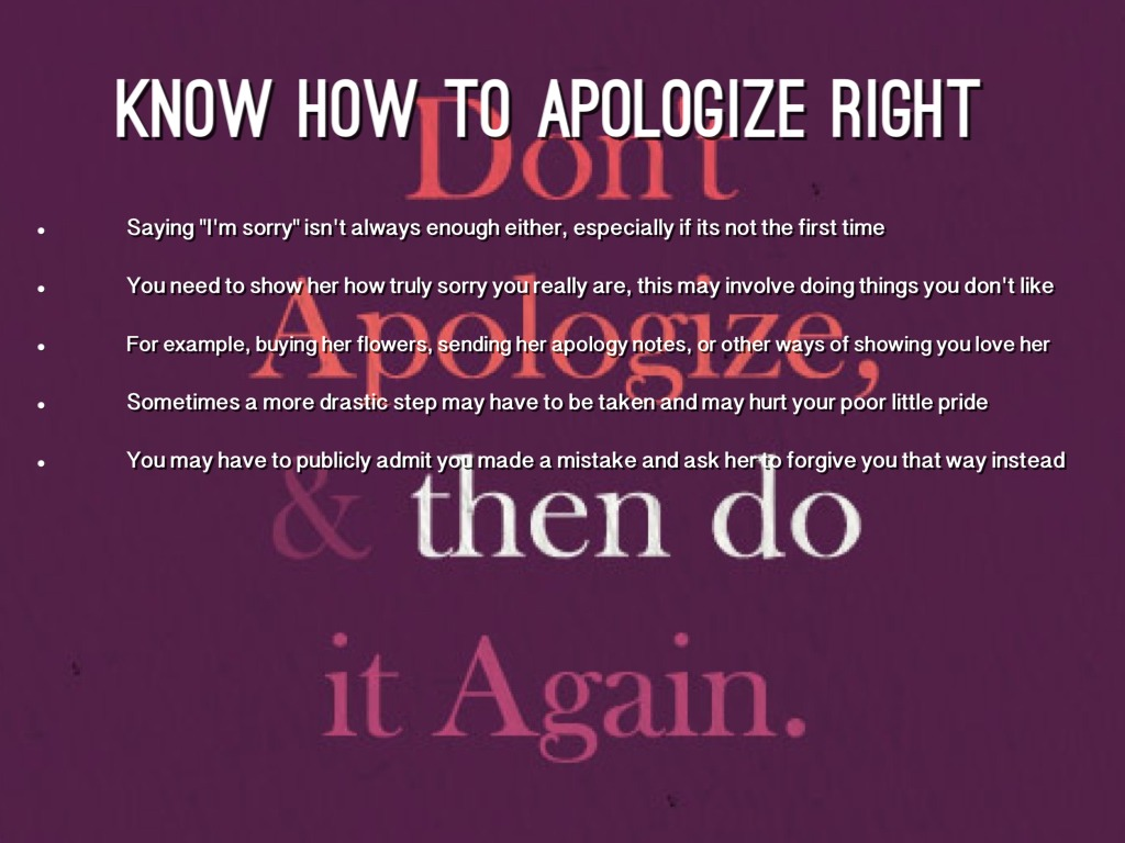 How to apologize to your love