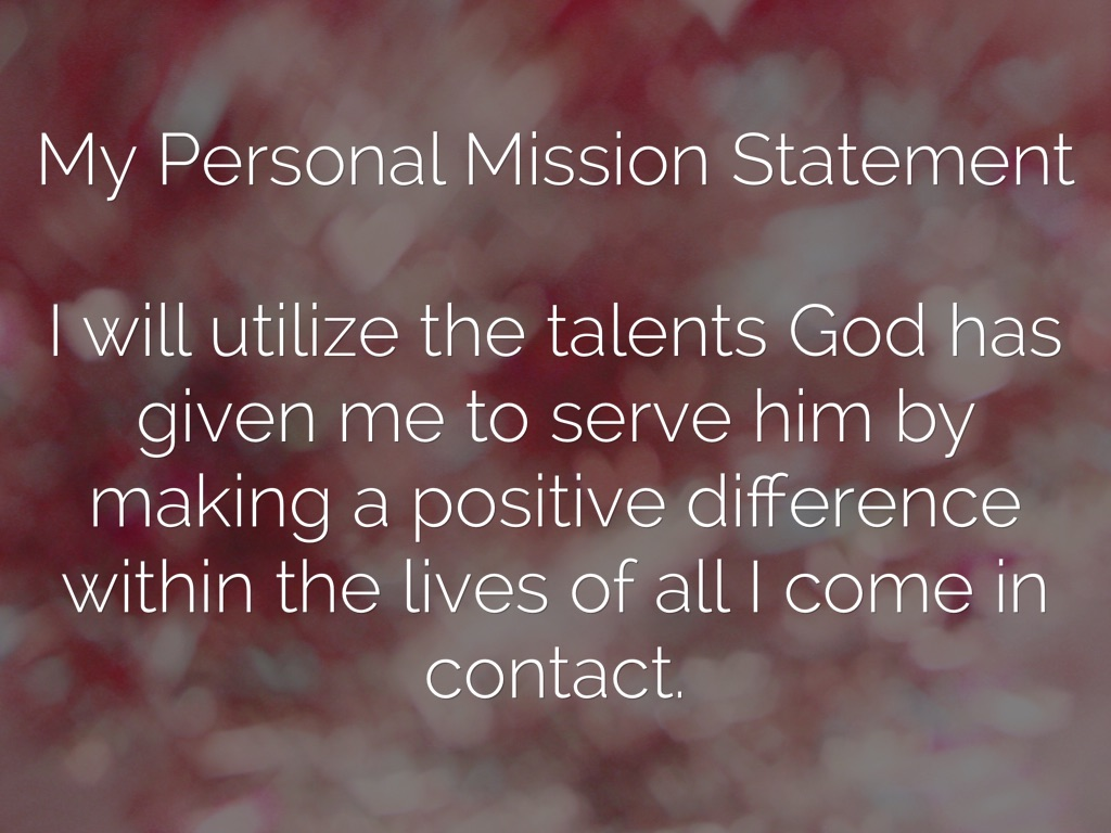 my personal mission statement