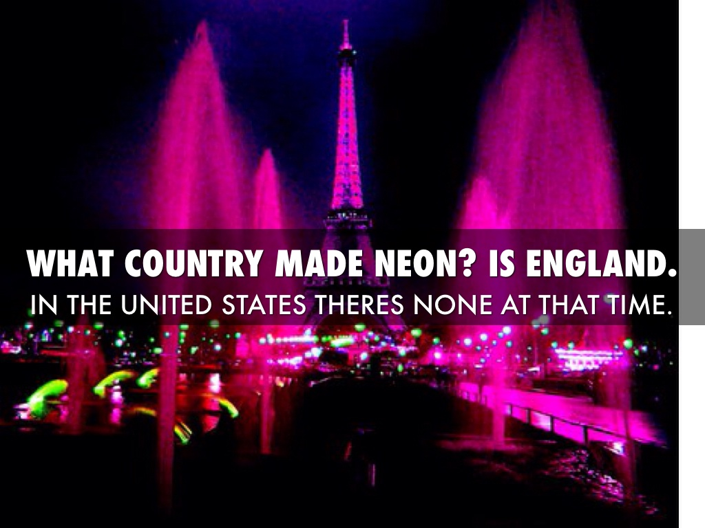 Neon element by bailey collingham what country made neon is england buycottarizona Images