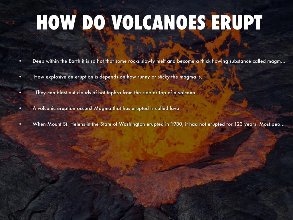 How do volcano erupt?