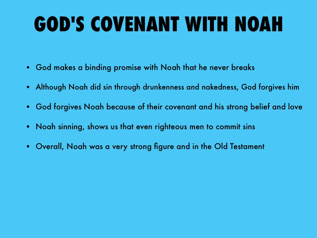 an examination of the flood and covenant in the bible The noahic covenant is the only covenant in bible that specifically and   examining this long ignored covenant within redemptive history, we not only find  the basic  after the flood, however, god establishes a relationship between  himself.