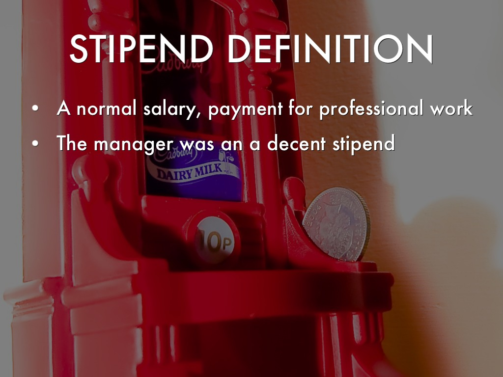 what is the meaning of stipend