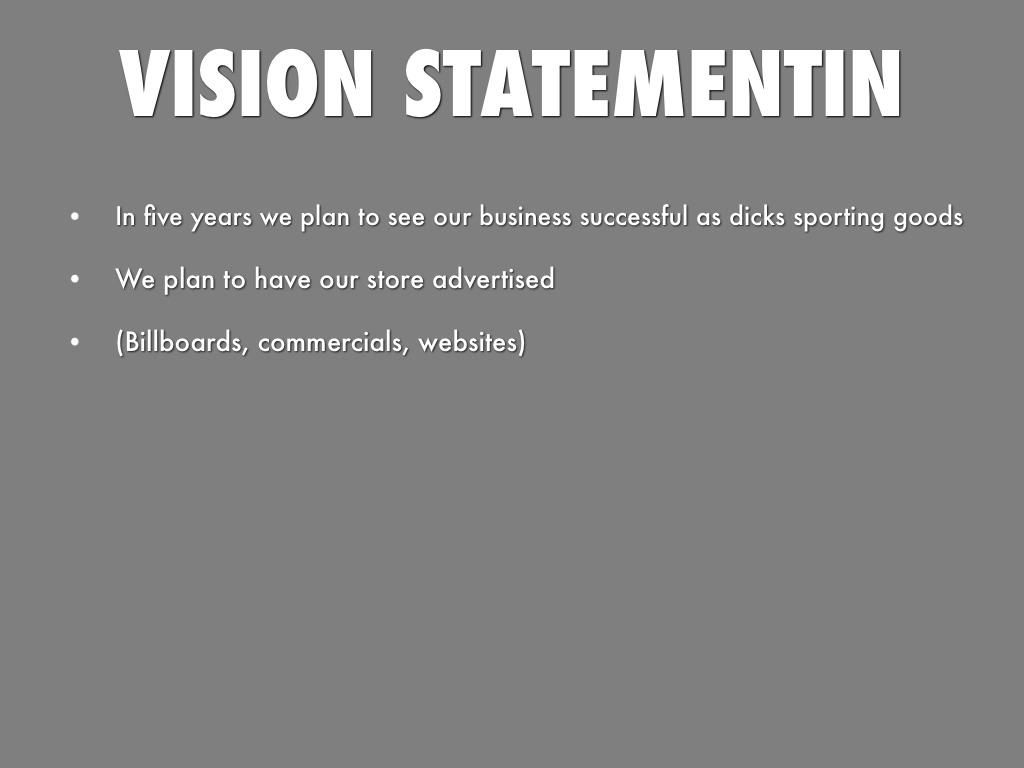 dicks sporting goods mission statement