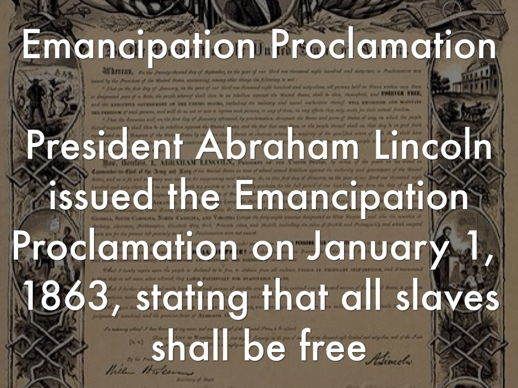 abraham lincoln issued emancipation proclamation to free all slaves in america Learn more about the emancipation proclamation proclamation twice abraham lincoln issued the and accept abolition for all slaves in.