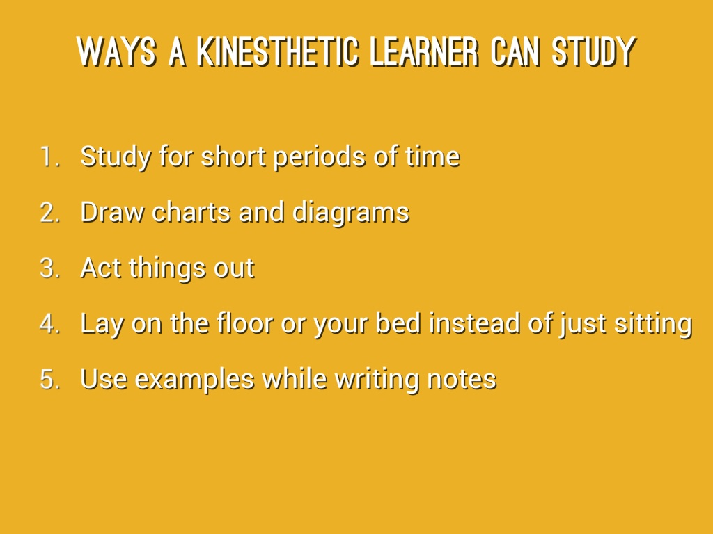 "i am a tactile kinesthetic learner essay Vark is a questionnaire ""vark"" is a questionnaire of about 16 questions that provides people with their preference of learning style the learning styles that vark offers can help people develop additional and effective strategies for learning and for making your communication skills better."