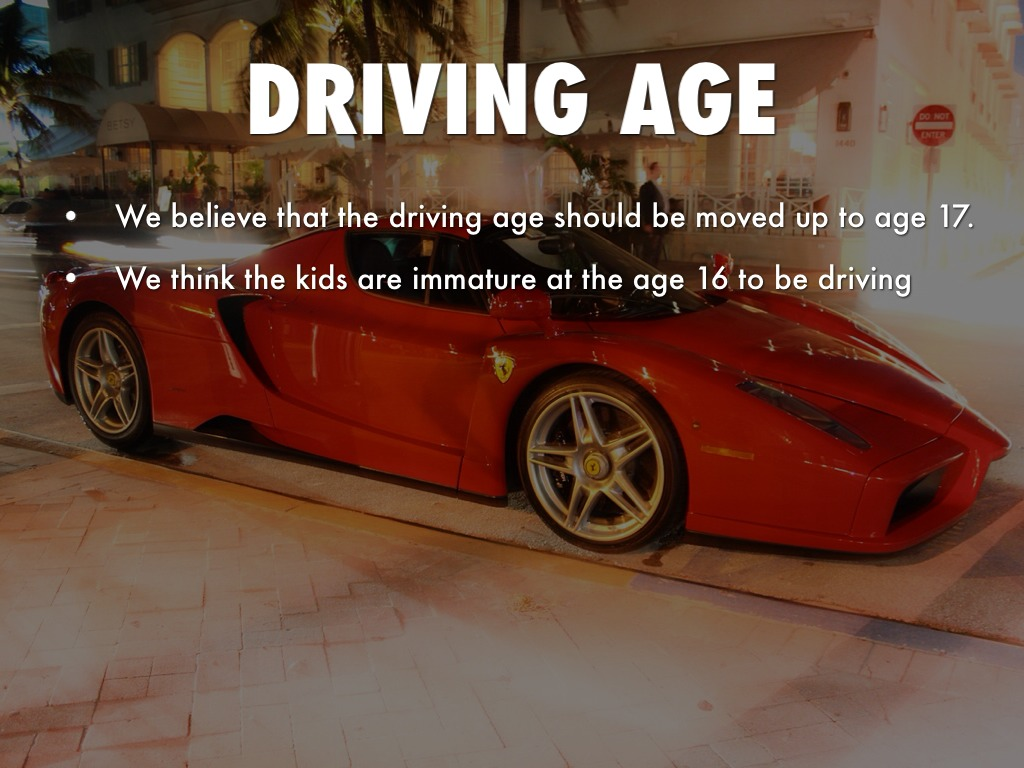 driving age should stay at 16 The legal age should be lowered to 16 normally, you have to be 18 years old to be 'legal' i think many 16 year olds are mature enough and smart enough to handle important life decisions.