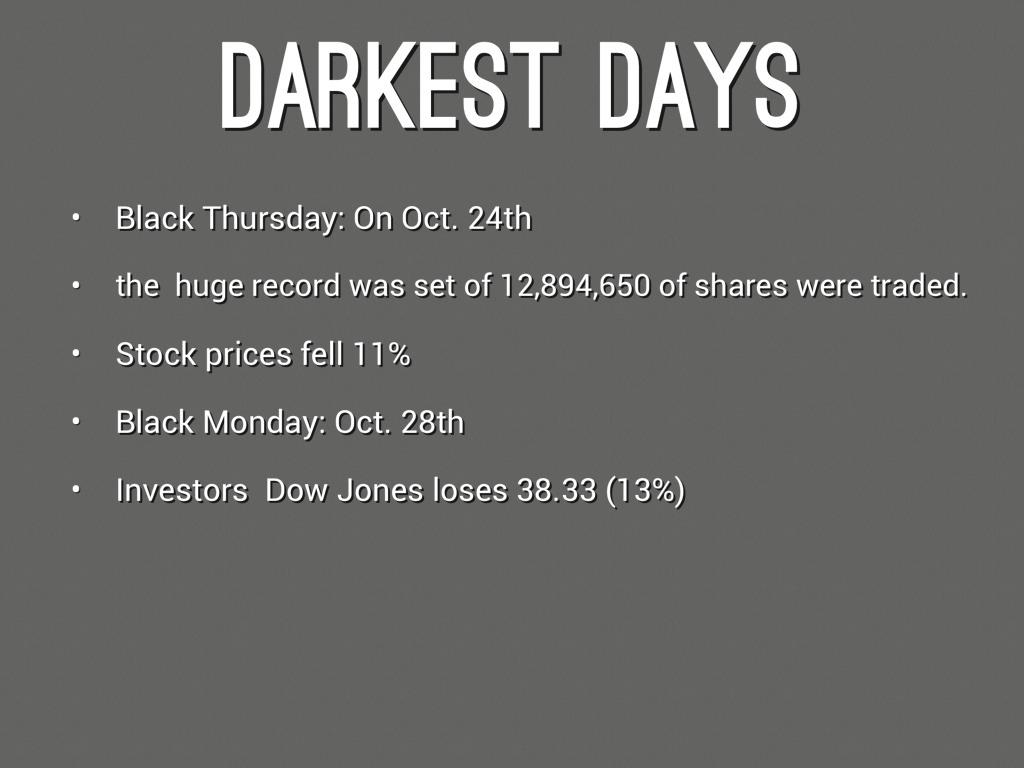 Stock market crash reason
