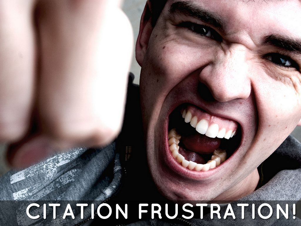 Citation frustration!
