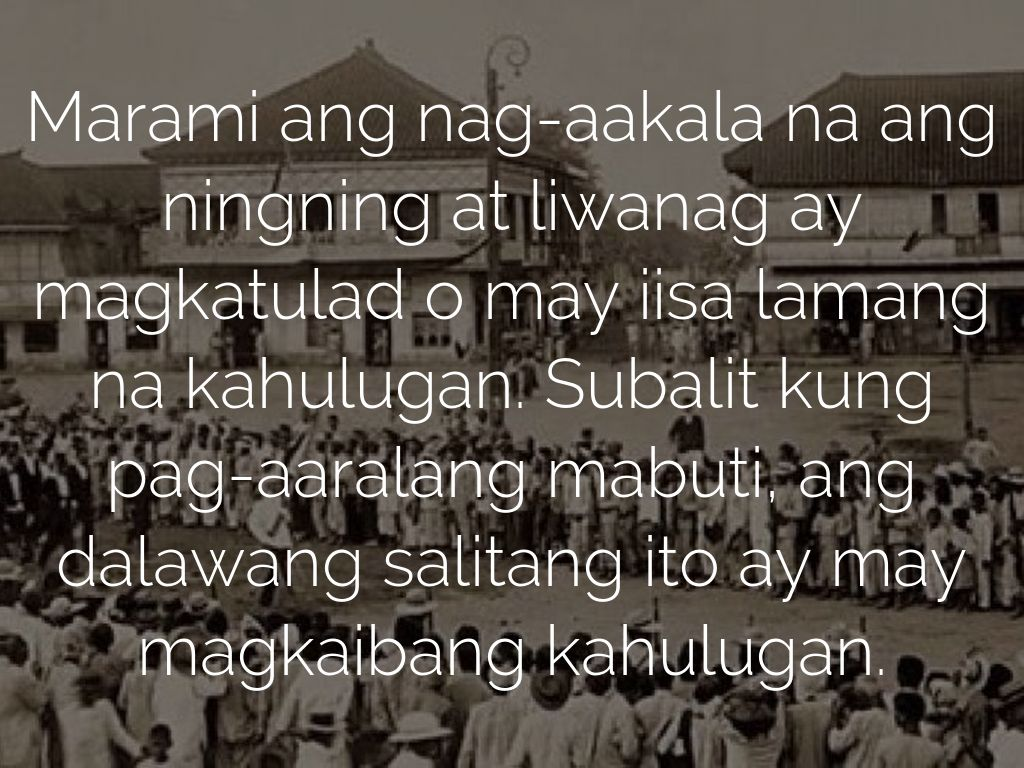 liwanag at ningning Preface: an introduction ako ang daigdig i am the world by alejandro abadilla an advice from him who was once dead by jk samson ang ningning at ang liwanag/ the lustre and the light (philosohical essay) by emilio jacinto.